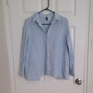 H&M Button down shirt with open back